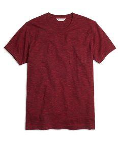 Slub Crewneck Pocket Tee ShirtRed