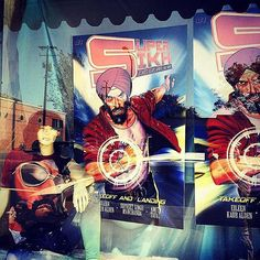 picture of the day  Check this out! Super Sikh Comic @supersikhcomic posters on the window display of DC Comics Mr. Games in Piedmont California. Nice! Picture by @jujurocs