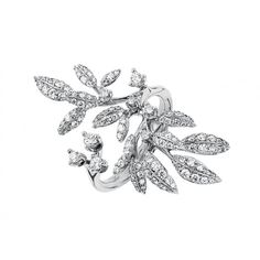 Winter Frost ring in 18K white gold with pavé and diamonds TW.VS