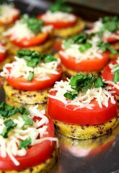 Healthy Recipe: Pizza Quinoa Polenta (I don't have access to polenta so I'm using sausage)