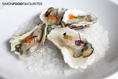 Oyster with mojito granita and salmon caviar ($3.50 each) at Bronte Cucina, Bronte