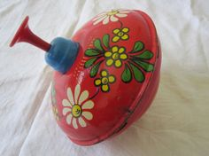 Vintage spinning top toy  Toy Spinning Metal Top by ContesDeFees, $58.00