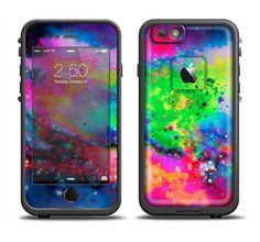 The Neon Splatter Universe Apple iPhone 6/6s Plus LifeProof Fre Case Skin Set from DesignSkinz