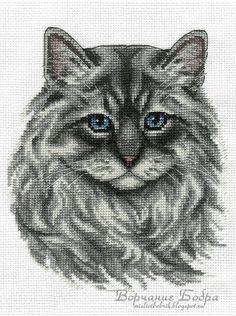 Cat Cross Stitches, Cross Stitch Needles, Cross Stitch Fabric, Beaded Cross Stitch, Counted Cross Stitch Kits, Modern Cross Stitch, Cross Stitching, Cross Stitch Embroidery, Gato Crochet