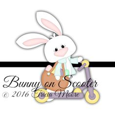 Bunny on Scooter