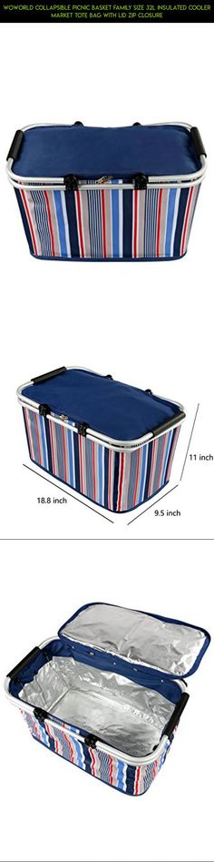 Woworld Collapsible Picnic Basket Family Size 32L Insulated Cooler Market Tote Bag With Lid Zip Closure #shopping #kit #racing #tech #gadgets #technology #drone #plans #parts #totes #storage #products #camera #fpv