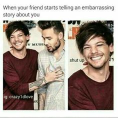 I'm Lou . Lou is me .we all are Lou in that situation hehe😜 Really Funny Memes, Stupid Funny Memes, Funny Relatable Memes, Haha Funny, True Memes, One Direction Quotes, One Direction Pictures, I Love One Direction, One Direction Fandom