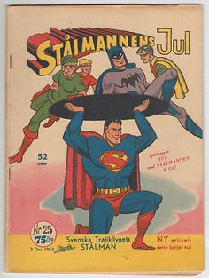 SUPERMAN #25 *SCANDINAVIAN VARIANT* unpublished Superman cover? DC COMICS 1952