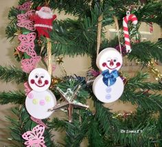 Cards ,Crafts ,Kids Projects: Bottle Cap Crafts - Snowman Couple