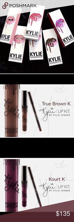 3 Kylie Jenner kits True brown k, Kourt K, KoKo K. Kylie Cosmetics Makeup Lip Liner