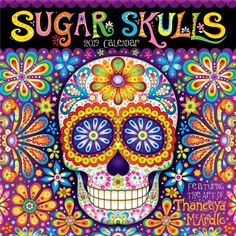 How to Make Sugar Skulls: Step-by-Step Demo with Photos, Using Sugar Skull Molds — Art is Fun Colorful Skulls, Colorful Abstract Art, Sugar Skull Molds, Sugar Skulls, Free Coloring Pages, Coloring Books, Printable Coloring, Adult Coloring, Day Of The Dead Art