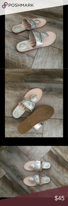 NWOT Jack Rogers in Platinum size 4 (kids) Brand new and never worn Jack Rogers Hampton sandals in platinum. Big girls size 4, can fit a women's 5.5-6. Jack Rogers Shoes Sandals