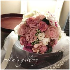 minne(ミンネ)| モーブピンクのローズクラッチブーケ 【yuka***様オーダー作品】