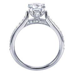 18k White Gold Diamond Straight Engagement Ring   Gabriel & Co NY   ER7309W83JJ