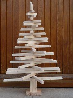 Blog d co fabriquer votre sapin de no l en bois recycl - Sapin de noel en bois de palette ...