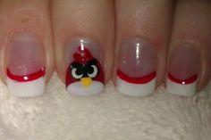 ANGRY BIRDS NAIL ART!!!!