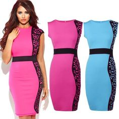 New Women Printed Bodycon Pencil Dresses