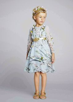 Dolce & Gabbana Kids SS 2014 | Vivi & Oli-Baby Fashion Life #floral #print #embroidery #applique #girls #kids #clothes #fashion #spring
