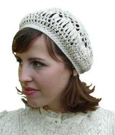 Lacy Beret Crochet Pattern