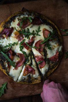 Paleo Pesto and Prosciutto Pizza   Slim Palate