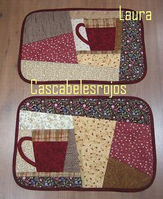Manteles individuales | Me encantan estos colores para todo … | Flickr Quilted Placemat Patterns, Mug Rug Patterns, Quilted Potholders, Quilt Patterns, Table Runner And Placemats, Quilted Table Runners, Small Quilts, Mini Quilts, Quilting Projects