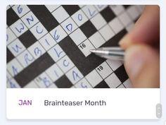 National Months, Crossword, Crossword Puzzles