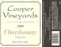 A great tasting Chardonnay straight from the Cooper vineyard