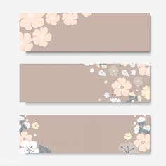 Flowers border rectangle card template vector | free image by rawpixel.com / Kappy Kappy Paper Background Design, Powerpoint Background Design, Flower Background Wallpaper, Flower Backgrounds, Journal Stickers, Planner Stickers, Eid Cards, Instagram Frame, Floral Border