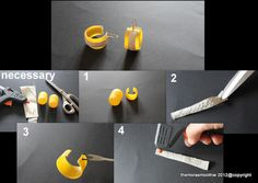 Easy & Cool DIY earrings !                                  By @The Mora Smoothie