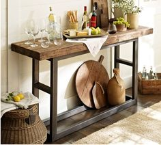 East Coast Creative: DIY Console Table {A Pottery Barn Knock Off} - House Decorators Collection Furniture Projects, Diy Furniture, Pottery Barn Furniture, Entryway Furniture, Furniture Removal, Country Furniture, Furniture Outlet, Plywood Furniture, Painted Furniture