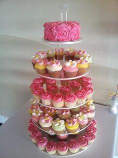cake and cupcake  tower