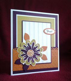 Stampin Up Flower Patch In Worte gefasst Streifen Perfect Polka Dots Brombeermousse Orangentraum Honiggelb