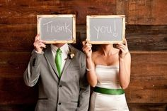 green wedding thank you from bride and groom - photo used for week 3 of Gussy Sews Inspiration Workshop Link Up Party