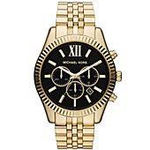 Michael Kors Watch, Men's Chronograph Lexington Gold-Tone Stainless Steel Bracelet 45mm MK8286.Nice Watch.