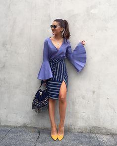 Love this color combo!!! Mix de textura, geometria... -