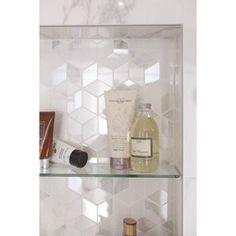 Mosaïque mur Murano hexa blanc carrare | Leroy Merlin