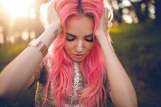 Julia Trotti, Photographer. Madeline Rae Mason, Model.  #fashion #photography #inspiration #pinkhair