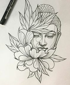Best tattoo lotus buddha beautiful IdeasYou can find Buddha tattoos and more on our website. Buddha Tattoo Design, Buddha Tattoos, Tattoo Design Drawings, Tattoo Sketches, Lotus Tattoo Design, Trendy Tattoos, New Tattoos, Tattoos For Guys, Cool Tattoos