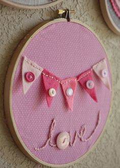 valentine's day embroidery hoop art--kids art project!