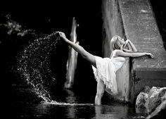 Beautiful dancer, senior portrait