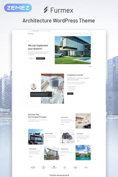 Your architecture bureau will become more popular and competitive thanks to Furmex theme. You will be able to create an advanced website dedicated to Joomla Themes, Photography Templates, Website Design Inspiration, Drupal, Website Themes, Wordpress Template, Premium Wordpress Themes, Architecture, Layout