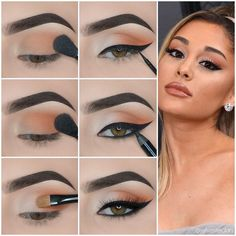 Do you like the exquisite makeup of fashion celebrities, such as Kylie Jenner, Ariana Grande and Kim Kardashian? Let& learn these eyeshadow tutorials. Simple Makeup Looks, Makeup Eye Looks, Eye Makeup Steps, Beautiful Eye Makeup, Simple Eye Makeup, Makeup For Brown Eyes, Smokey Eye Makeup, Makeup Eyeshadow, Eye Makeup Art