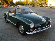 1968 Volkswagen Karmann Ghia Convertible - there she is! But I want her in black!