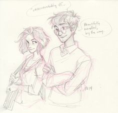 burdge - Posts tagged Harry and Ginny Fanart Harry Potter, Harry Potter Drawings, Harry Potter Fandom, Harry Und Ginny, Burdge Bug, Desenhos Harry Potter, Couple Drawings, Art Sketches, Hogwarts
