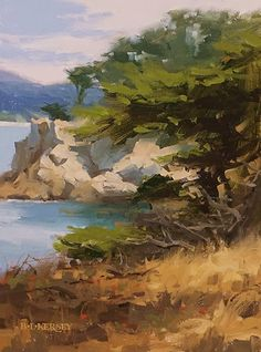 View of Cypress Cove by Laurie Kersey Oil ~ 12 x 9