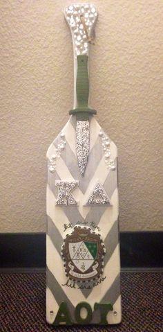 My paddle to my big! Kappa Delta sorority paddle. Real dagger. AOT. @annaraye215
