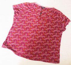 New Maine Lady Short Sleeve Cotton Floral Top/T-Shirt/Blouse Plus Size 22 Purple