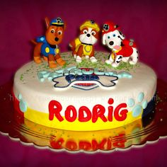 Bolo da Patrulha Pata - Paw Patrol   #Cão #Patrulha #Pata #PatrulhaPata #Chase #Marshall #Rubble #Cake #Bolos #Chocolate #Cupcake #CakeDesign #Oeiras #Lisboa