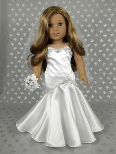 Beautiful Wedding  Dress for American Girl Doll 02