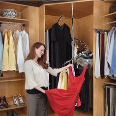 This Rev A Shelfs Spiral Clothes Rack Has 360 Degree Turning Radius